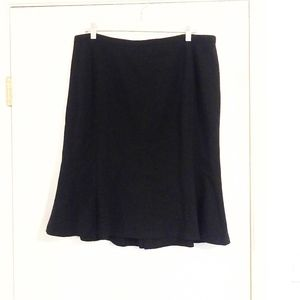 Lane Bryant Black Hi Waisted A Line Skirt